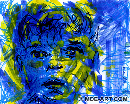 blue-boy-abstract-drawing