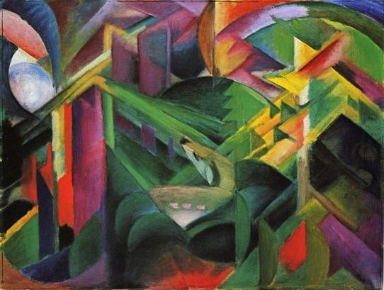 Franz-Marc-xx-Deer-in-a-Monastery-Garden-1912-xx-Staedtische-Galerie-im-Lenbachhaus