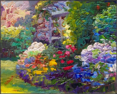 summer_garden_kennebunkport___10x8__oil_on_canvas__impressionist_oil__paintings_with_impasto__summer_gardens__maine_gardens__kennebunkport
