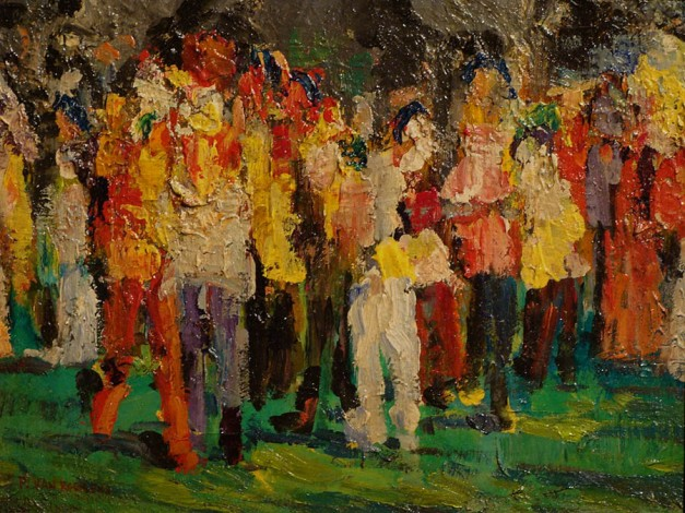 paulette-van-roekens-in-the-crowd-9x12-oil-on-canvas