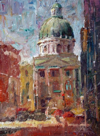 The Capitol Building - Charles Warren Mundy 1945 - American impressionist painter - Tutt'Art@ (3)