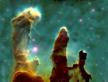"""""""Pillars of Creation"""" Photo of the Eagle Nebula By the Hubble Telescope"""