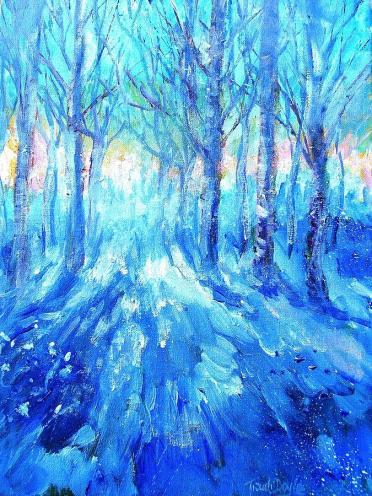 sunset-in-winter-wood-trudi-doyle