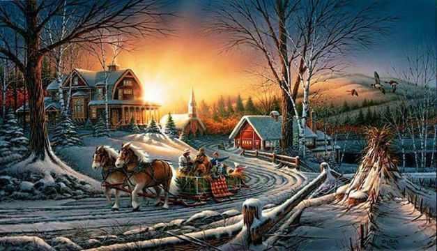 """Sleighride in Winterland"" by Terry Redlin"
