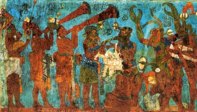 Maya by paul f lenzi our poetry corner for Bonampak mural painting