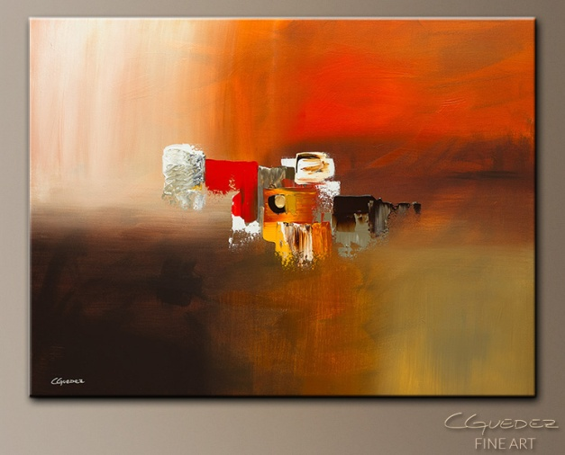 Fond Memories Modern Abstract Art Painting by Carmen Guedez - www.carmenguedez.com