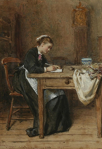George_Goodwin_Kilburne_Writing_a_letter_home_1875