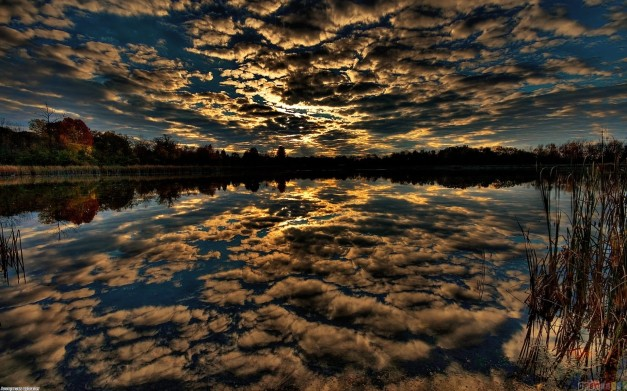 dark magic sky_reflected_in_lake_rock bull