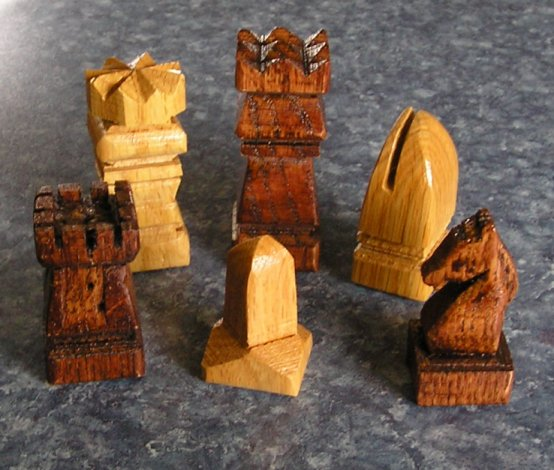 rustic Chess-Set jim arnold
