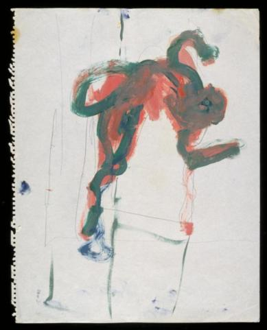 Falling Figure c.1957-61 by Francis Bacon 1909-1992