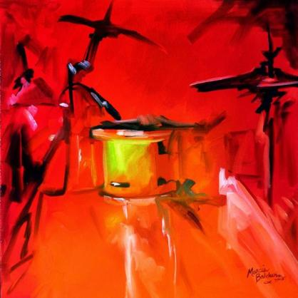 music-in-red-drum-abstract