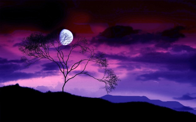 sky-beautiful-moonlight-view-haze-scenic-amazing-purple-gorgeus-nature-night-wallpaper-widescreen