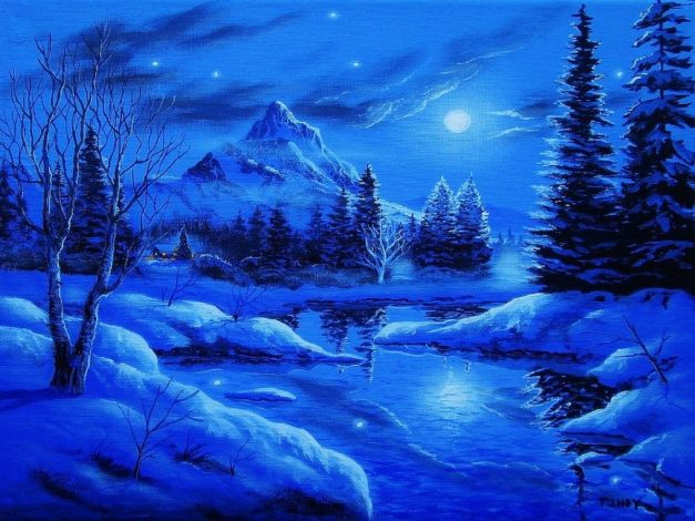 winter-four-holidays-mountain-moons-plants-love-snow-blue-stars-landscapes-year-attractions-seasons-new-xmas-dreams-trees-mountains-painti