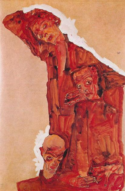 composition-with-three-male-figures-self-portrait-1911-egon-schiele
