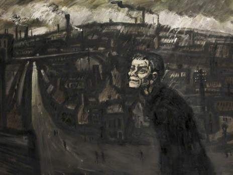 Major, Theodore, 1908-1999; Man in Bleak Landscape